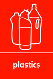 Plastics signage - bottles icon (portrait)