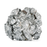 Ball of used, clean foil