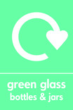Green glass signage - logo (portrait)