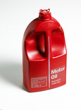 Plastic bottle of motor oil