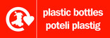 Plastic Bottles signage - logo (landscape, English-Welsh)