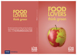 Food lovers think green,environment,A5 leaflet