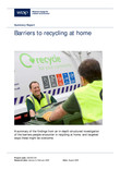 Barriers to Recycling at Home - Summary Report