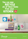 Recycle for London - Good to Know kitchen multi material poster A3