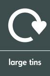 Large tins signage - logo (portrait)