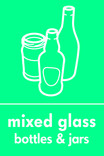 Mixed glass signage - bottles & jars icon (portrait)