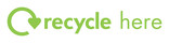 Instructional recycle mark - 'recycle here'
