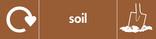 Soil signage - soil icon with logo (landscape)