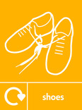Shoes signage - shoes icon with logo (portrait)