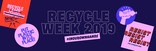 Recycle Week 2019 Twitter and Facebook banner replacement assets for use in Wales