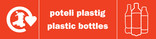 Plastic Bottles (500ml) signage - logo (landscape, Welsh-English)