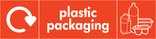 Plastic packaging signage - packaging icon with logo (landscape)