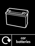 Car batteries signage - Battery icon with Logo (portrait)