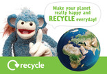 Key stage 1 and 2 recycling poster: make your planet happy