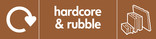 Hardcore & Rubble signage - rubble icon with logo (landscape)