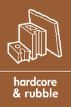 Hardcore & Rubble signage - rubble icon (portrait)