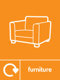Furniture signage - couch icon with logo (portrait)