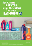 Good to Know - A4 poster - bathroom - multi material