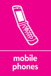 Mobile Phones signage - phone icon (portrait)