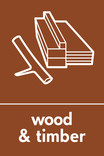 Wood & Timber signage - wood icon(branch) (portrait)