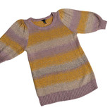 Women's mauve striped jumper