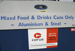 Steel can recycling bring bank - Corus