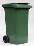 Green wheelie bin