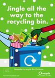 Christmas Jingle Poster A4,blue bin