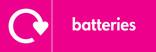 Batteries signage - logo (landscape)