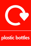 Plastic bottles (500ml juice) signage - logo (portrait)