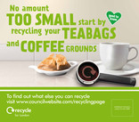 Recycle for London - Food recycling - Coffee (Cup) - Vehicle livery (square)