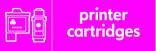 Printer Cartridges signage - cartridges icon (landscape)
