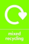 Mixed recycling icon - logo (portrait)