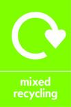 Mixed recycling icon - logo (portrait)