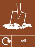 Soil signage - soil icon with logo (portrait)