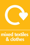 Mixed textiles & clothes signage - logo (portrait)