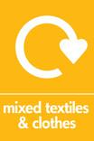 Mixed textiles & clothes signage - logo (portrait)