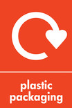 Plastic packaging signage - logo (portrait)