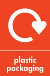 Plastic packaging signage - logo (portrait)