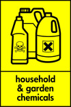 Household & garden chemicals signage - poison bottles icon (portrait)