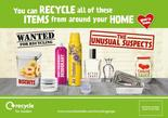 Recycle for London - Unusual Suspects - Glass and Metal - Editable Press Adverts