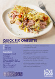 Student-friendly recipe,quick fix omlette