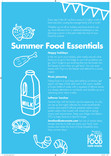 Tip card (reverse of recipe cards and poster),summer food essentials ,Partner Version