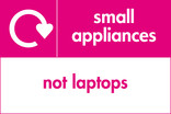 Small appliances (not laptops) signage - logo (landscape)