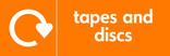 Tapes & discs signage - logo (landscape)
