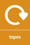 Tapes signage - logo (portrait)