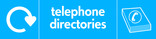 Telephone directories signage - directory icon with logo (landscape)