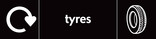 Tyres signage - Tyre icon with logo (landscape)