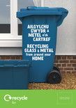 Good to Know - Metal and Glass - Bilingual A5 leaflet - House & Wheelie bin front covers (Welsh first)