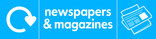 News & magazines signage - newspaper icon with logo (landscape)